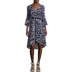 Likely Blue Floral Bell Sleeve Kedzie Dress 8 NWT